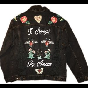 Gucci Jackets & Coats - Gucci embroidered denim jacket (Kanye edition)